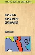 Managing Management Development