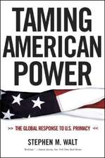 Taming American Power – The Global Response to U.S. Primacy