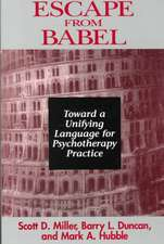 Escape From Babel – Towards a Unifying Language for Psychotherapy Practice
