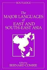 The Major Languages of East and South-East Asia