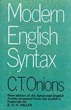 Modern English Syntax