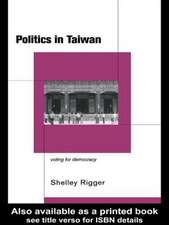 Politics in Taiwan:  Voting for Reform
