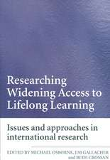 Researching Widening Access to Lifelong Learning: Issues and Approaches in International Research