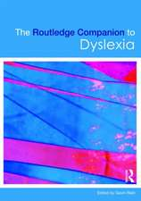 The Routledge Companion to Dyslexia