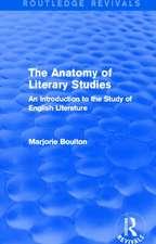 The Anatomy of Literary Studies