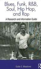 Blues, Funk, Rhythm and Blues, Soul, Hip Hop, and Rap:  A Research and Information Guide