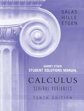 Student Solutions Manual to accompany Calculus: Several Variables, 10e (Chapters 13 – 19)