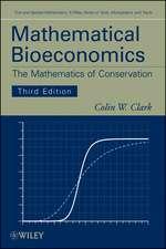 Mathematical Bioeconomics: The Mathematics of Conservation