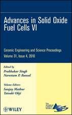Advances in Solid Oxide Fuel Cells VI