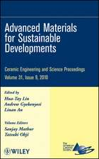 Advanced Materials for Sustainable Developments