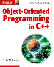 Object–Oriented Programming in C++