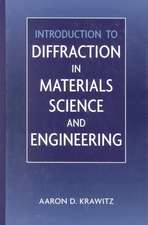 Introduction to Diffraction in Materials Science and Engineering