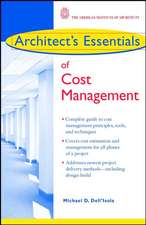 Architect′s Essentials of Cost Management
