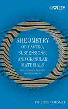 Rheometry of Pastes, Suspensions, and Granular Materials: Applications in Industry and Environment