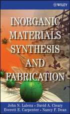 Inorganic Materials Synthesis and Fabrication