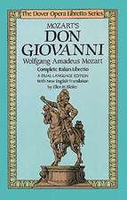 Mozart's Don Giovanni (Opera Libretto Series)