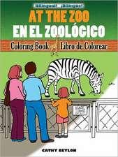 At The Zoo Coloring Book/En el Zoologico Libro de Colorear