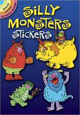 Silly Monsters Stickers:  A Close Up Coloring Book