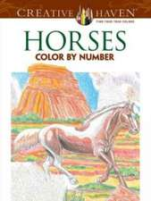 Horses Color by Number Coloring Book:  A Story Coloring Book