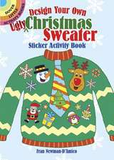"""Design Your Own """"Ugly"""" Christmas Sweater Sticker Activity Book"""