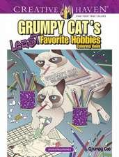 Creative Haven Grumpy Cat's Least Favorite Hobbies