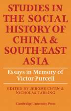 Studies in the Social History of China and South-East Asia: Essays in Memory of Victor Purcell