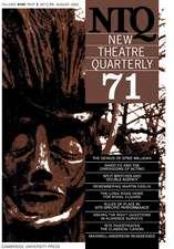 New Theatre Quarterly 71:  Volume 18, Part 3