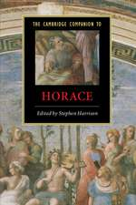 The Cambridge Companion to Horace
