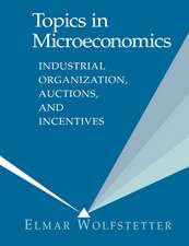 Topics in Microeconomics: Industrial Organization, Auctions, and Incentives