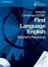 Cox, M: Cambridge IGCSE First Language English Teacher's Res