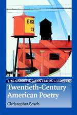 The Cambridge Introduction to Twentieth-Century American Poetry