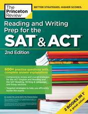 Reading and Writing Prep for the SAT and ACT