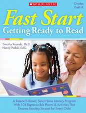 Fast Start:  Grades PreK-K [With 30 Motivational Stickers]