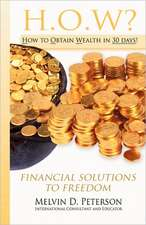 How? How to Obtain Wealth in 30 Days!:  Financial Solutions to Freedom