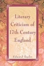 Literary Criticism of Seventeenth-Century England