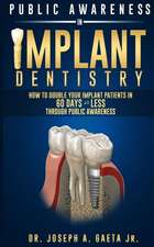 Public Awareness in Implant Dentistry:  How to Double Your Implant Patients in 60 Days or Less Through Public Awareness