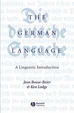 The German Language: A Linguistic Introduction