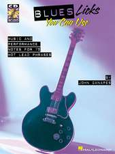 Blues Licks You Can Use: Music and Performance Notes for 75 Hot Lead Phrases [With CD (Audio)]