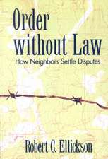 Order without Law – How Neighbors Settle Disputes (Paper)