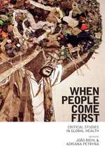 When People Come First – Critical Studies in Global Health