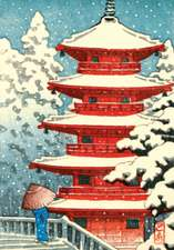 Red Pagoda in Snow Holiday Notecards [With 21 Envelopes]