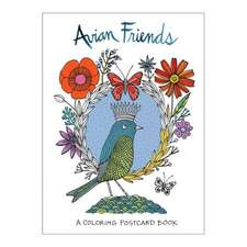Avian Friends Coloring Postcards