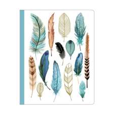 Arrows & Feathers Deluxe Spiral Notebook