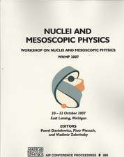 Nuclei and Mesoscopic Physics:  Workshop on Nuclei and Mesoscopic Physics - WNMP 2007