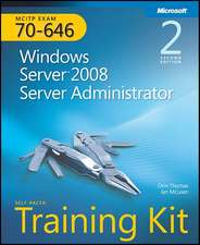 MCITP Self-Paced Training Kit (Exam 70-646):  Windows Server 2008 Server Administrator [With CDROM]