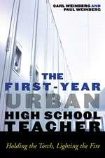The First-Year Urban High School Teacher
