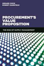 The Procurement Value Proposition