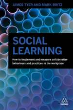 Social Learning: How to Implement and Measure Collaborative Behaviours and Practices in the Workplace