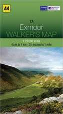 Walker's Map Exmoor:  Edinburgh & the Pentland Hills