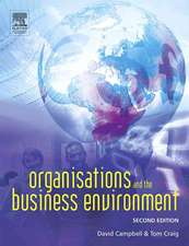 Organizations and the Business Environment